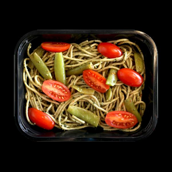 Whole Wheat Spaghetti and Pesto
