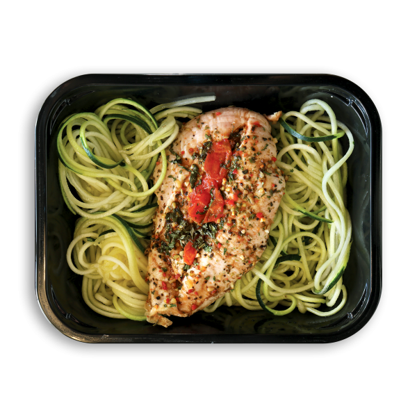 Keto Caprese Chicken with Zoodles
