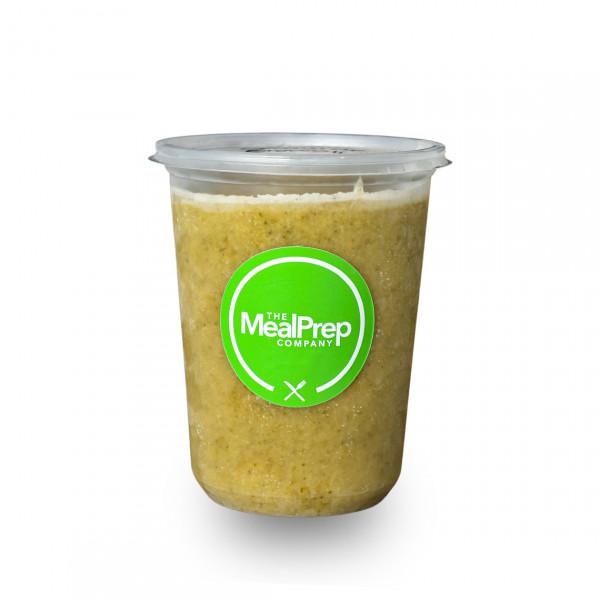 Keto cream of broccoli and cauliflower soup